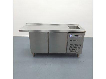 Chladící stůl Edesa - 2 dvířka s dřezem 173x60x88 cm