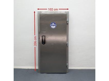 Nerezové dveře do chladícího boxu včetně rámu 80x195cm