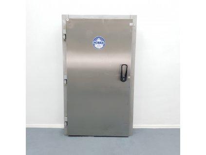 Nerezové dveře do chladícího boxu včetně rámu 100x195cm