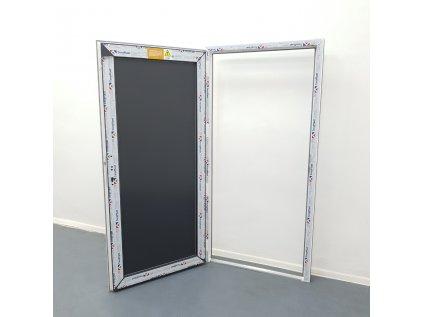 Plastové vchodové dveře 98 cm x 198 cm závěs vlevo bílé/antracitové