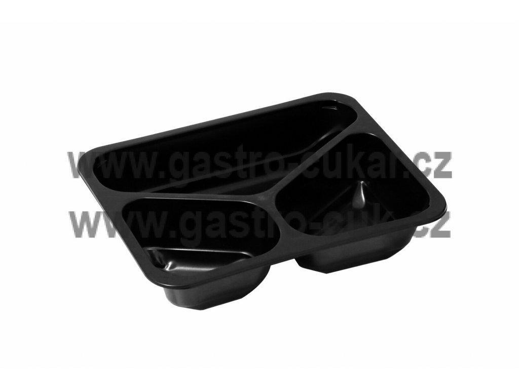 Miska 3 D černá