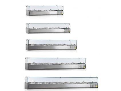 Chladící vitrína - pizza nástavba pro  GN 1/3 - 150