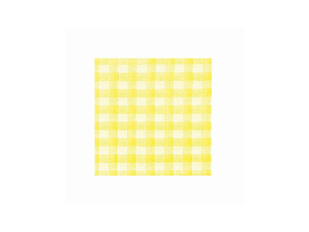 Ubrousky 1vrstv. 33×33 KARO žluté