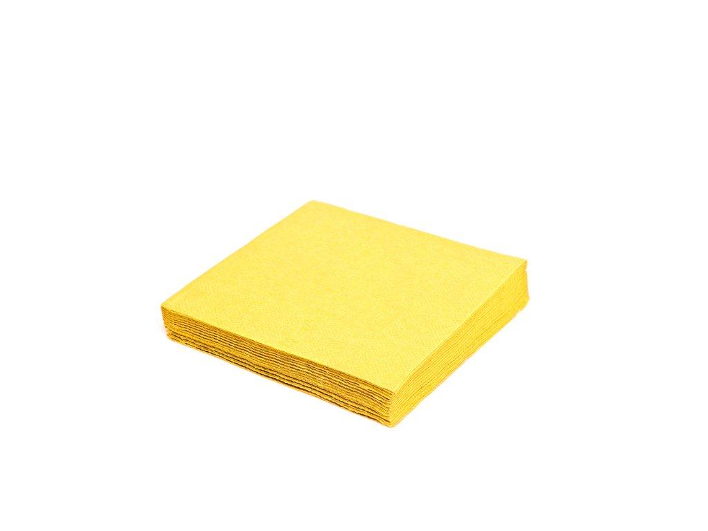 Ubrousky 1-vrstvé, 33×33cm žluté