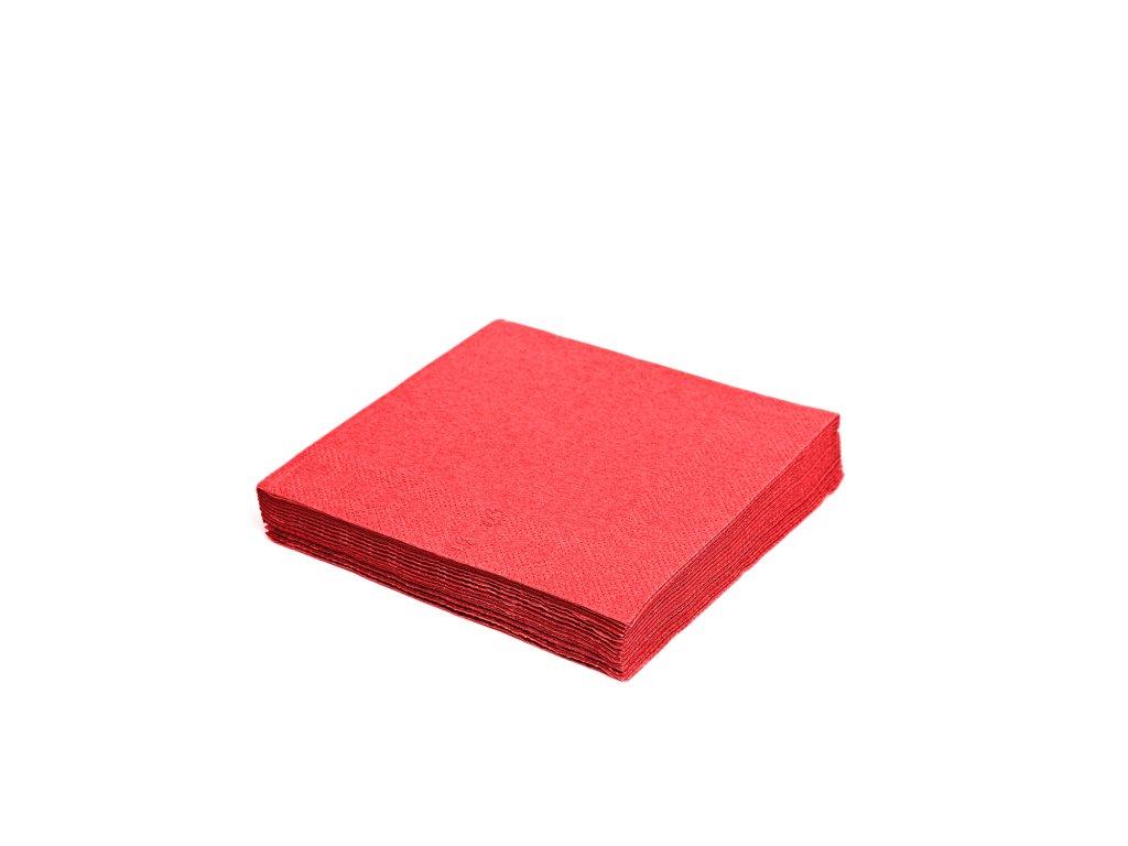Ubrousky 2-vrstvé 33×33cm červené