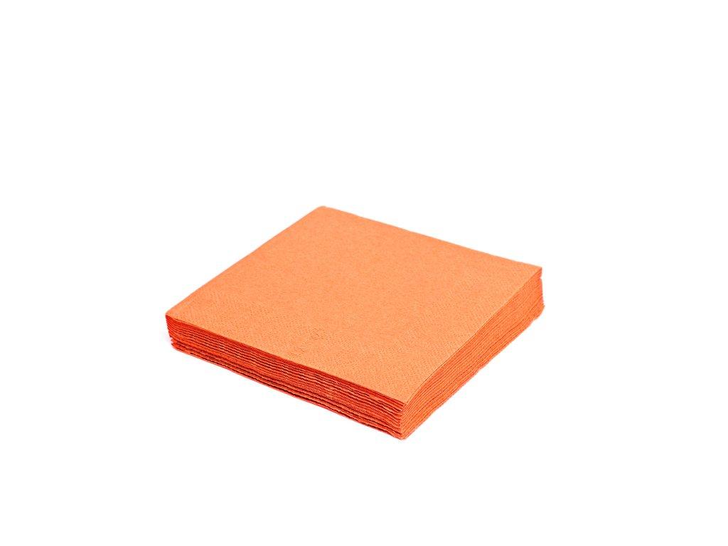 Ubrousky 2-vrstvé 33×33cm oranžové