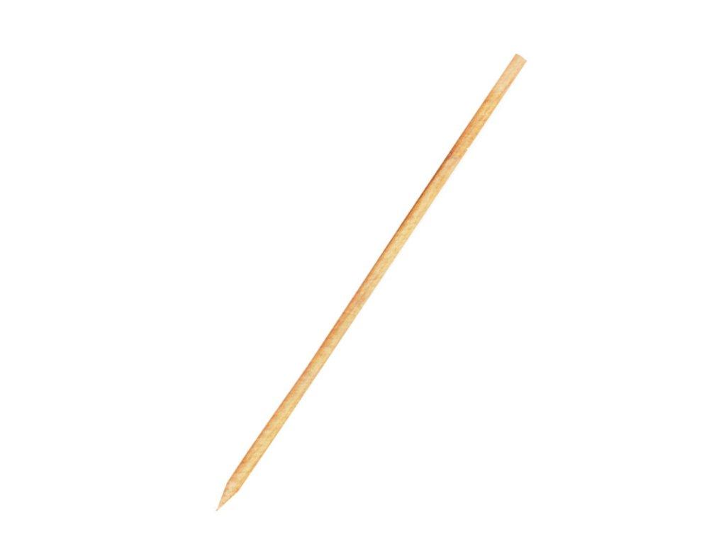 Dřevěné špejle hrocené 25 cm, Ø 3 mm