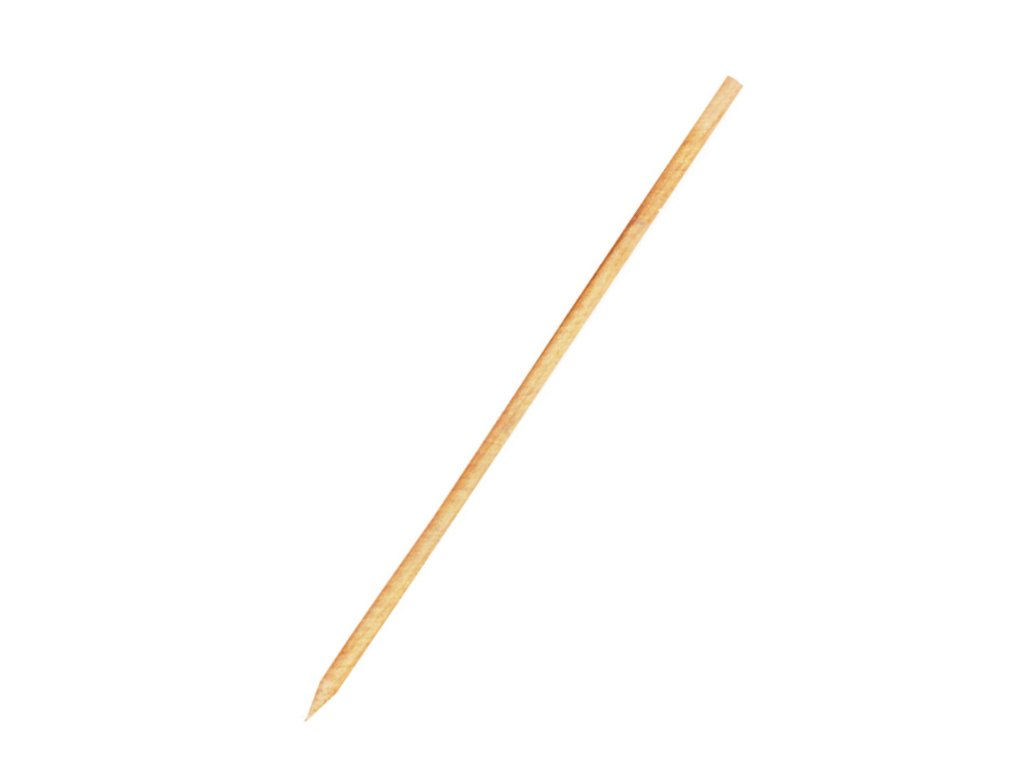 Dřevěné špejle hrocené 30 cm, Ø 3 mm