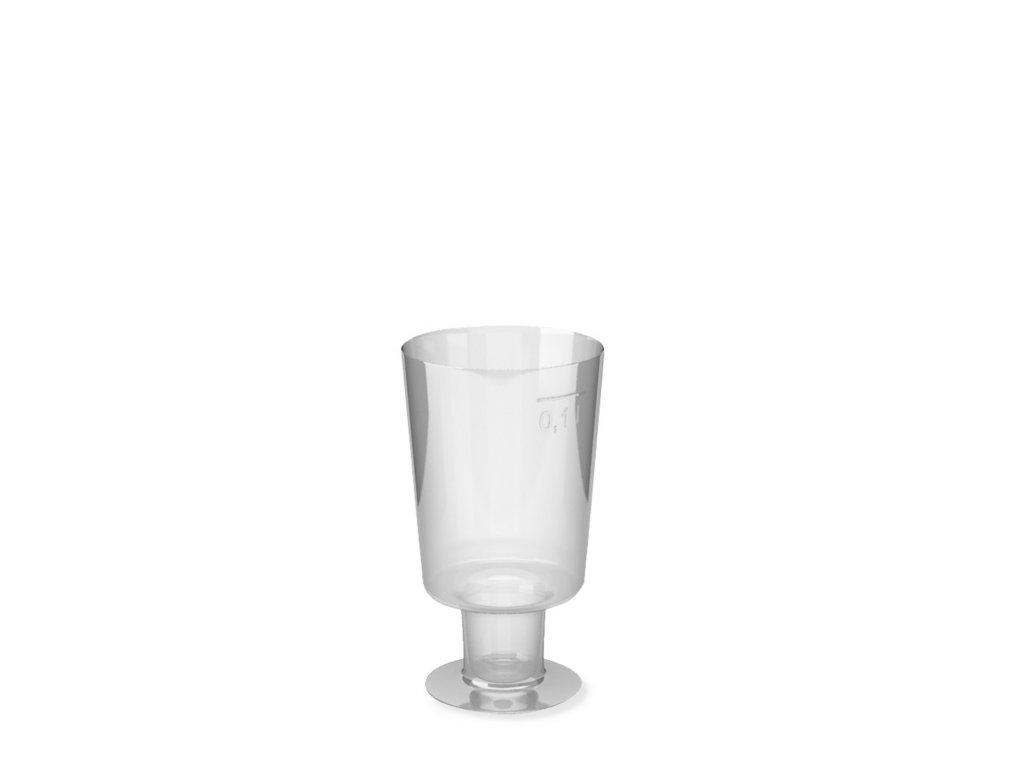 Kelímek krystal na stopce 0,1 l