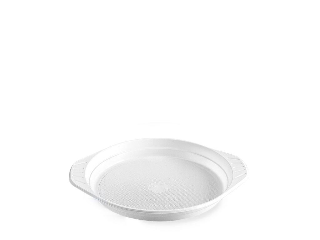 Talíř s oušky, bílý (PP) Ø 22 cm