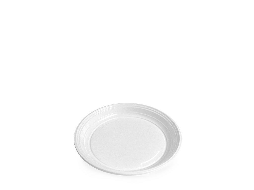 Talíř mělký, bílý (PP) Ø 20,5 cm