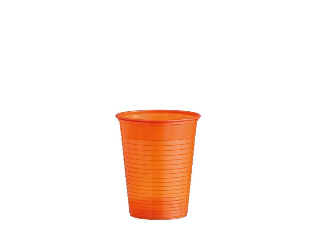 Kelímek oranžový 0,18 l -PS- (Ø 70 mm)