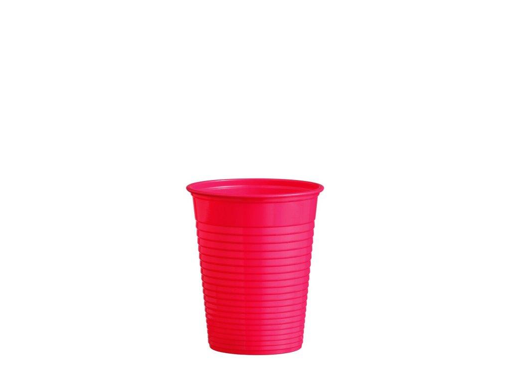 Kelímek červený 0,18 l -PS- (Ø 70 mm)