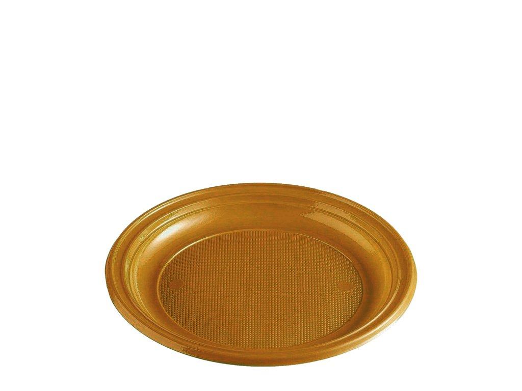Talíř zlatý (PS) Ø 22 cm