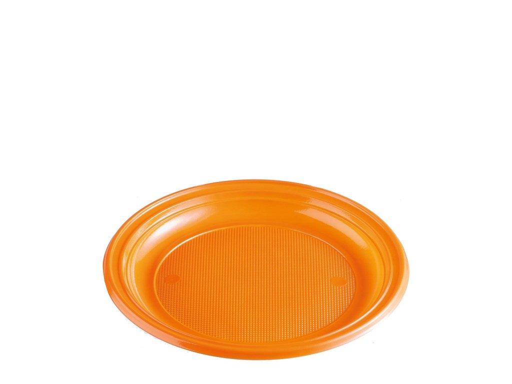 Talíř oranžový (PS) Ø 22 cm