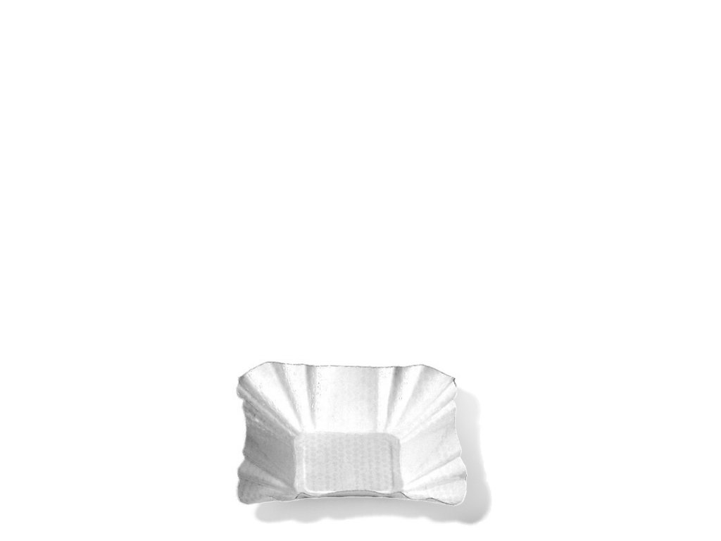 Papírové misky hranaté 9 x 9 x 3 cm