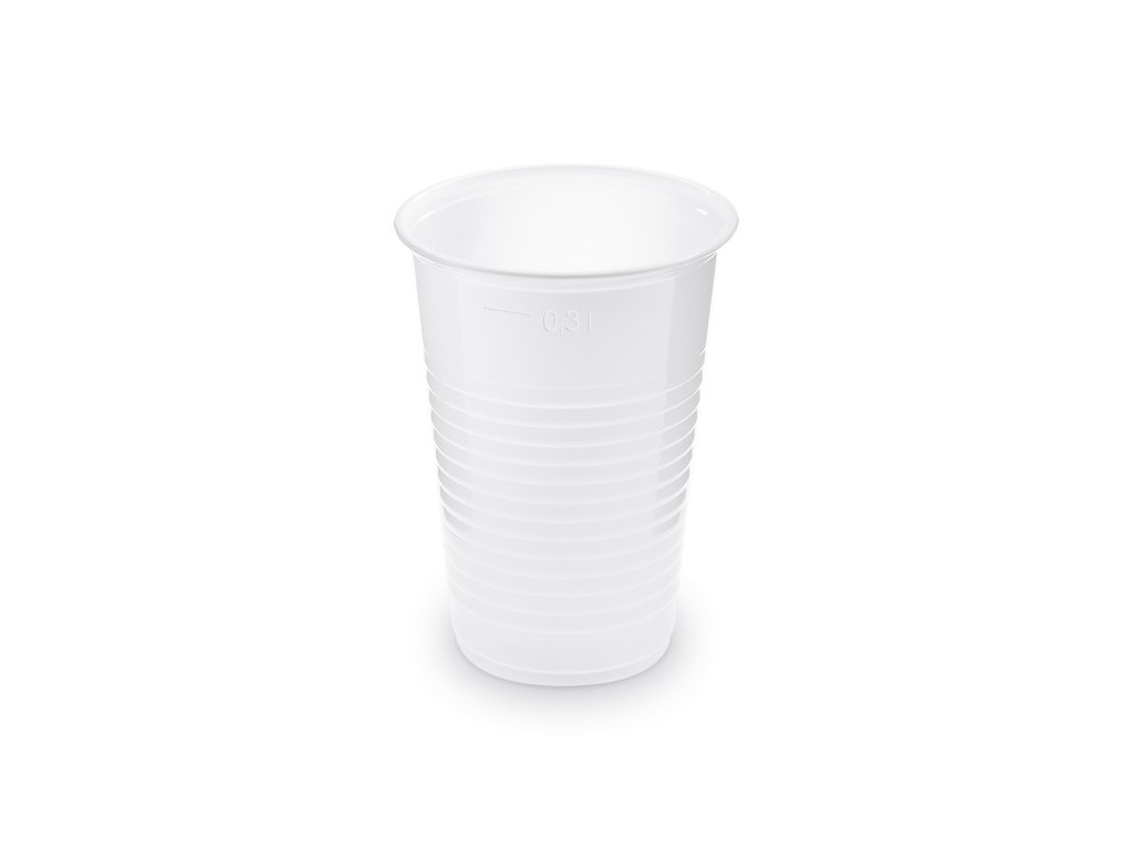 Kelímek bílý 0,3l  Ø80mm (100ks)
