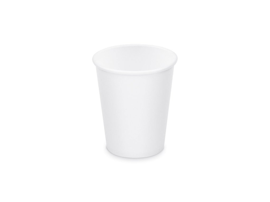 Papírový kelímek bílý 280 ml, M (Ø 80 mm) [50 ks]