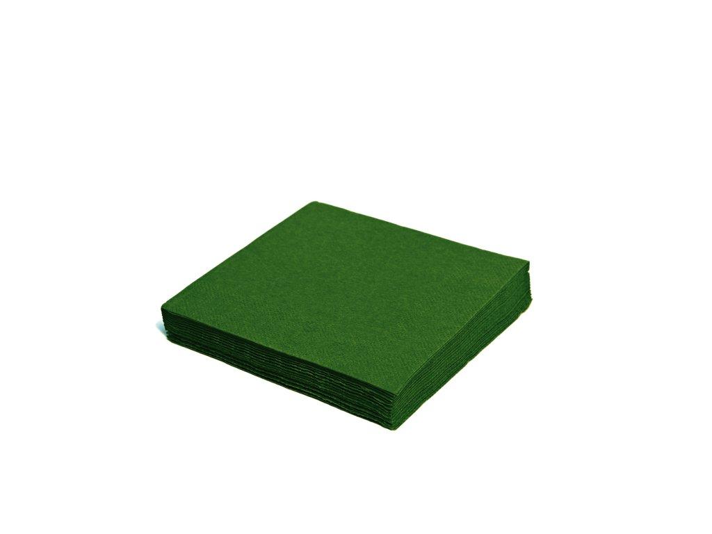 Ubrousky 2-vrstvé 33×33cm tmavě zelené