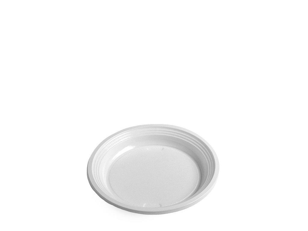 Talíř mělký, bílý (PS) pr. 17cm