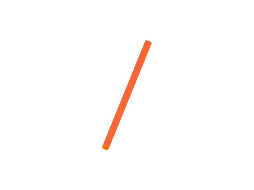 Slámky Jumbo oranžové