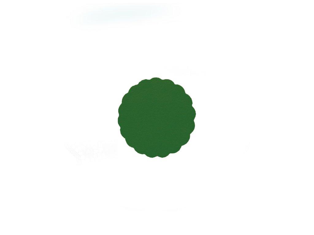 Rozetky PREMIUM Ø 9 cm tmavě zelené