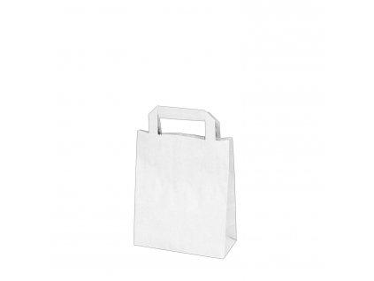 Papírové tašky 18x8 x 22 cm bílé