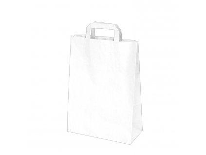 Papírové tašky 26x12 x 36 cm bílé