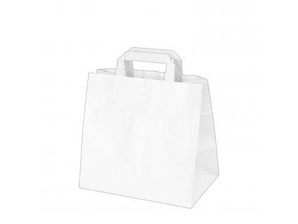 Papírové tašky 32x21 x 27 cm bílé