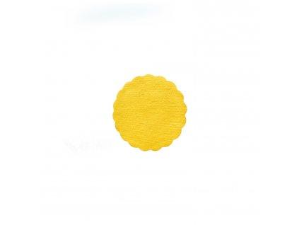 Rozetky PREMIUM Ø 9 cm žluté