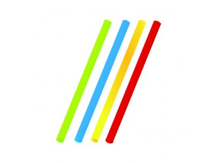 Slámky Jumbo barevné mix 25cm/8mm