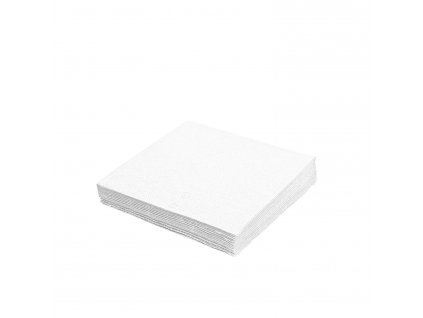 Ubrousky 2-vrstvé, 24×24cm bílé
