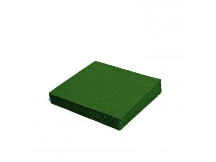 Ubrousky 2-vrstvé, 24×24cm tmavě zelené