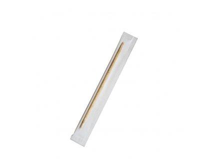Dřevěná párátka hyg. balená v celofánu 65 mm