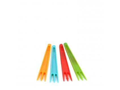 Vidlička na hranolky barevná mix 7,5 cm