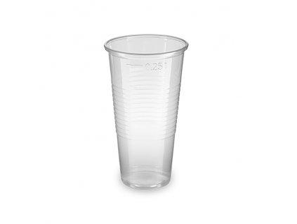 Kelímek průhledný 0,25 l -PP- (Ø 70 mm)
