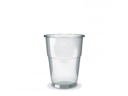 Kelímek průhledný 0,2 l (PP) -extra pevný- (Ø 78 mm)