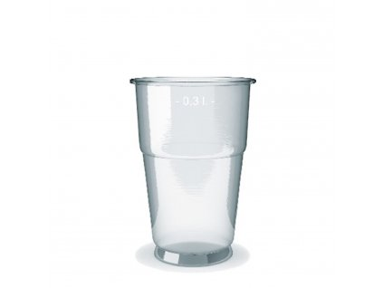 Kelímek průhledný 0,3 l (PP) -extra pevný- (Ø 78 mm)