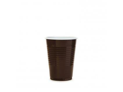 Kávový kelímek hnědo-bílý 0,18 l -PP- (Ø 70 mm)