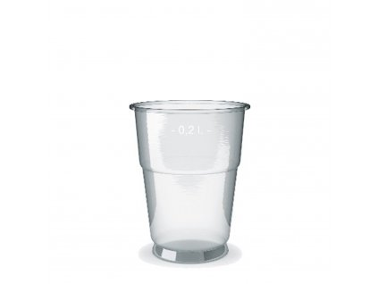 Kelímek z PET 0,2 l (Ø 78 mm)