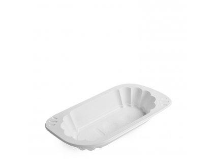 Miska oválná bílá (PP) 200 ml