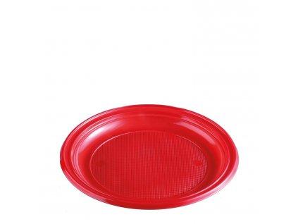 Talíř červený (PS) Ø 22 cm