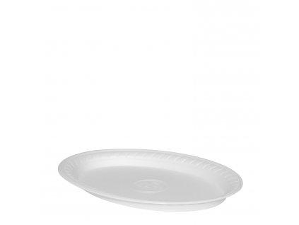 Termo-talíř oválný, bílý 29,5 x 21 cm
