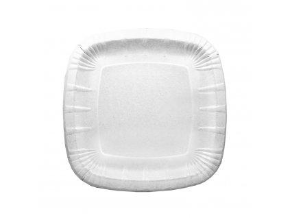 Papírové talíře čtvercové 24 x 24 cm, nepromastitelné