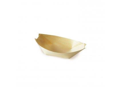Fingerfood miska dřevěná, lodička 9 x 6 cm