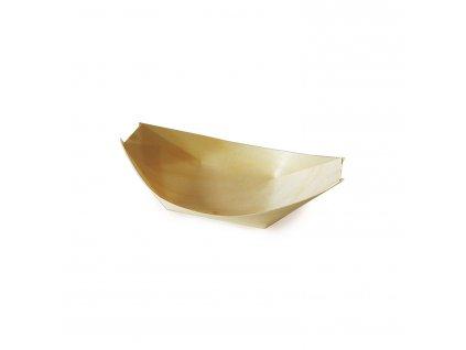 Fingerfood miska dřevěná, lodička 11 x 7 cm