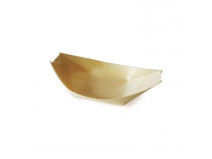 Fingerfood miska dřevěná, lodička 13 x 8 cm