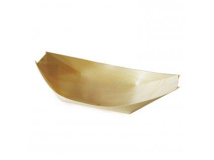 Fingerfood miska dřevěná, lodička 18 x 10,5 cm
