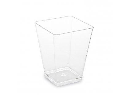 Fingerfood kelímek hranatý, čirý 5,8 x 5,8 x 7,6 cm - 160 ml