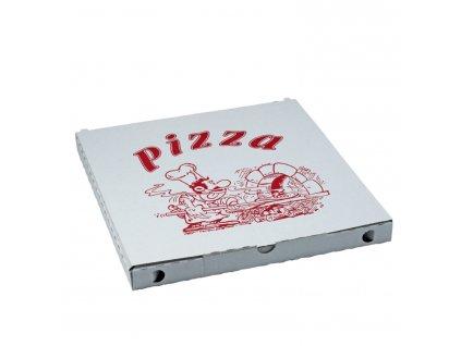 Krabice na pizzu z vlnité lepenky 34×34×3cm